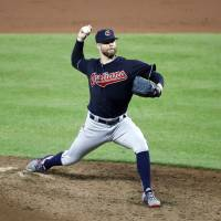 Cleveland's Kluber tosses three-hitter in rout of Baltimore