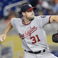Nationals hurler Scherzer comes unglued after losing no-hit bid in eighth inning against Marlins