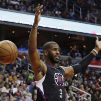Clippers guard Chris Paul, a nine-time All-Star, is headed to the Rockets in a major trade announced Wednesday. | AP