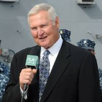 Legendary executive Jerry West, who works as a consultant for the Warriors, has been reportedly courted by the Clippers to join the team's front office. | WIKIPEDIA