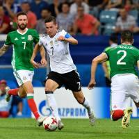 Germany whips Mexico in semis