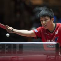 Harimoto stuns Mizutani at table tennis worlds