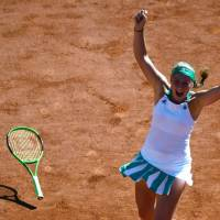 Ostapenko upsets Halep to win French Open title