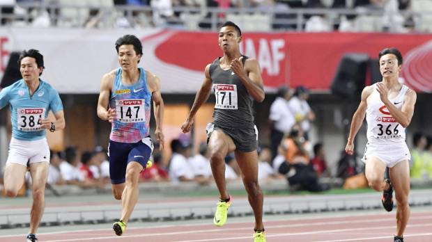 Sani Brown advances to 100-meter final with fastest time at nationals