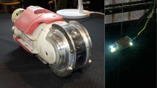 [VIDEO] 'Mini manbo' (miniature sunfish) robot demo by Toshiba Corp.