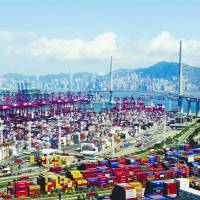 Modern and well-equipped container terminals help maintain Hong Kong's status of a major port of southern China.   INFORMATION SERVICES DEPARTMENT, HONG KONG SAR GOVERNMENT