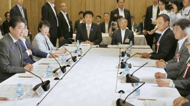 Abe identifies priorities for fiscal 2018 budget