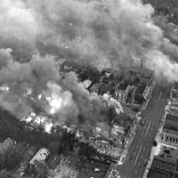 Multiple fires burn in a section of riot-torn Detroit in July 1967, about 3 miles west of the downtown area. Five days of violence would leave 33 blacks and 10 whites dead, and more than 1,400 buildings burned. More than 7,000 people were arrested. | AP