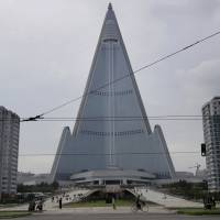 With rocketry plug, Pyongyang opens area near giant 'pyramid' hotel 30 years in making but still unoccupied