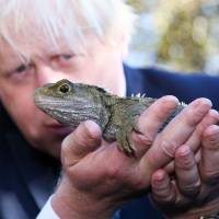 In New Zealand, Boris Johnson parries queries about prime ministerial bid