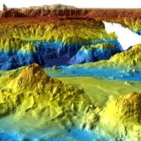 A computer generated three-dimensional view of the seafloor obtained from mapping data collected during the first phase of the search for missing Malaysia Airlines flight MH370 is seen in this undated photo.  Commonwealth of Australia (Geoscience Australia) / via REUTERS | COMMONWEALTH OF AUSTRALIA (GEOSCIENCE AUSTRALIA) / VIA REUTERS
