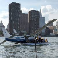 No injuries reported after small seaplane makes hard landing in New York's East River