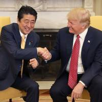 Abe, Trump agree to step up pressure on North Korea as it heads down 'dangerous path'