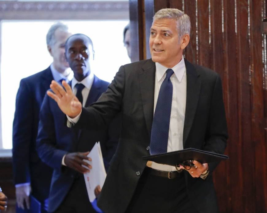With Clooney on board, U.S. aid groups team up on Africa's humanitarian crisis