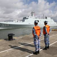 China sends military personnel to Djibouti to man its first overseas base