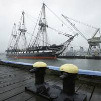 'Old Ironsides' returns to Boston's waters after repairs