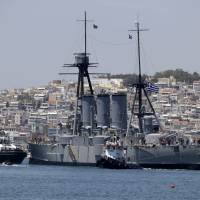 107-year-old dreadnought returns to Athens berth after repairs