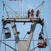 German gondola mishap strands up to 100 riders in cable cars over the Rhine