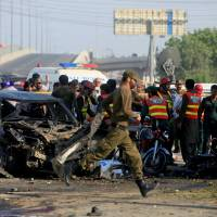 Taliban faction claims credit after motorcycling suicide bomber kills 26, wounds 54 in Lahore