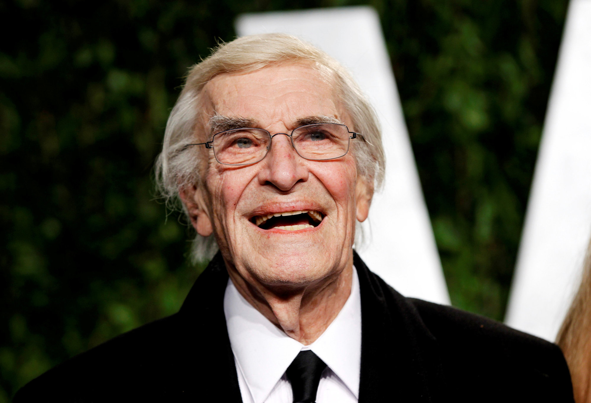 Actor Martin Landau smiles as he arrives at the 2012 Vanity Fair Oscar party in West Hollywood, California, in 2012. Landau died Sunday at age 89. | REUTERS