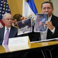 Sessions steps away from fray, flies to El Salvador to probe ways to stamp out MS-13 gang