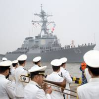 Beijing lambastes U.S. warship patrol in South China Sea as tensions rise over waterway, North Korea