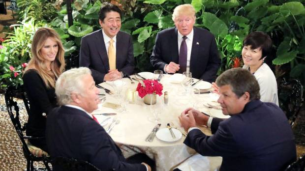 Trump questions whether Japan's first lady can speak English