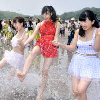 Iwaki residents do the hula as Usuiso Beach reopens after seven-year wait