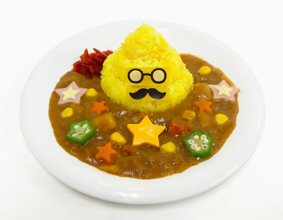 A plate of Unko Sensei's (Professor Poop's) sweet curry is served at the Namjatown theme park in Tokyo's Ikebukuro district.   KYODO