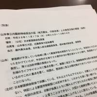 An excerpt from the Nov. 17 minutes of a meeting between Kozo Yamamoto, regional revitalization minister, and officials of the Japan Veterinary Medical Association and its affiliated group for political activities is seen by The Japan Times. | REIJI YOSHIDA