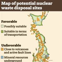 METI posts map of potential nuclear waste disposal sites