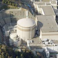 The No. 1 reactor at Japan Atomic Power Co.'s Tsuruga plant in the city of Tsuruga, Fukui Prefecture, is one of eight nuclear reactors in Japan that is 40 years old or older. | KYODO