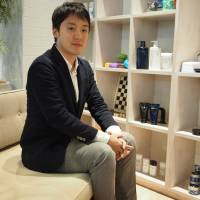 Keisuke Oku is chief of the Public Relations Department at cosmetics manufacturer Mandom Corp. | MASAMI ITO