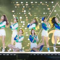 Second time's a charm: South Korean pop group Twice performs in Incheon last year. The group has been getting a lot of media attention in Japan lately. | LEE YOUNG HO/SIPA USA