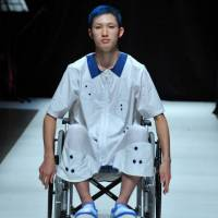 A Ha-Ha 2015 runway show included models in wheelchairs