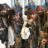 Big in Japan: Fans dress up as Captain Jack Sparrow at the Tokyo premiere of 'Pirates of the Caribbean: Dead Men Tell No Tales' on June 20. | AP