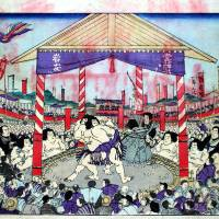 Picture depicting an Osaka sumo match (1892) | THE COLLECTION OF OSAKA MUSEUM OF HISTORY