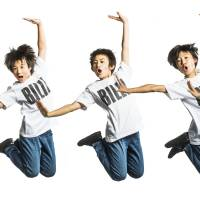 Jump for joy: The five young actors playing the titular character in the Japan-made version of 'Billy Elliot' are (from left) Kousei Kato, Sakuya Kimura, Haruto Maeda, Kazuki Mirai and Riki Yamashiro.