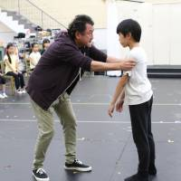Dealing with Dad: Billy's father, played by Kotaro Yoshida, has serious words with his son about his love of ballet. | © AKI TANAKA