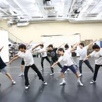 Practice makes perfect: The child actors of the Japanese production of 'Billy Elliot' take part in an intensive dance lesson.   © AKI TANAKA