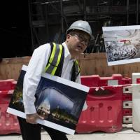 Constructing the arts: WKCDA Executive Director of Performing Arts Louis Yu in front of the Xiqu Centre construction site. | JOHN L. TRAN