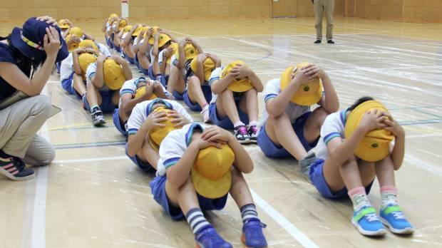Public questions Japan's duck and cover drills