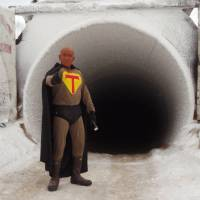 Icy outreach: Kenji Yoshikawa has taken his alter ego, Tunnel Man, to schools across Alaska and Canada to teach about permafrost. He is now working on the Russian version of his book 'Permafrost in our Time' and plans to take his educational message to Siberia. | COURTESY OF KENJI YOSHIKAWA