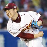 PL pitcher Manabu Mima, who toils for the Eagles, worked two scoreless innings to pick up the win on Saturday. | KYODO