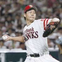 Takeda, three Hawks relievers combine for one-hit shutout of Marines