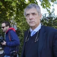 Spanish Football Federation president Angel Maria Villar, seen in a 2016 file photo, was detained by police on Tuesday as part of a corruption probe. | AFP-JIJI