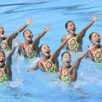 Japan captures synchro bronze at second straight world championships