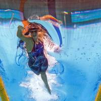 Ledecky begins worlds with two golds