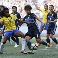 Brazil women earn tie against Japan with late goal in Tournament of Nations opener