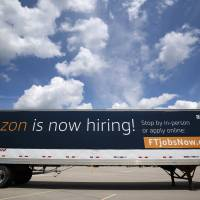 Amazon warehouses in U.S. cities see strong turnout for job fairs